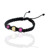 4.74ct Ruby Sapphire Macrame Bracelet Sterling Silver Women's Jewelry