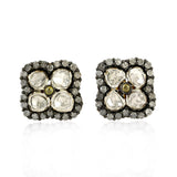 New Arrival 2.17ct Diamond Stud Earrings 18k Gold 925 Sterling Silver Jewelry