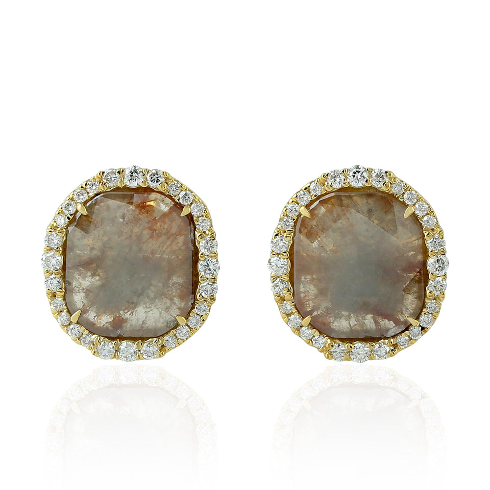 2.7ct Diamond Stud Earrings 18k Yellow Gold Handmade Jewelry Christmas Gift