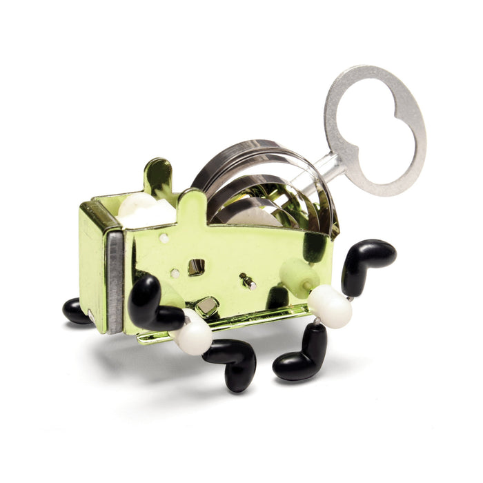 Pea Wind Up Toy - Stainless steel with vinyl feet