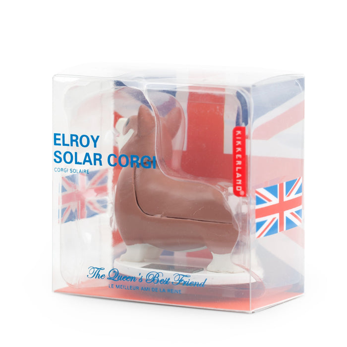 Elroy The Royal Corgi - Solar powered - No more changing batteries