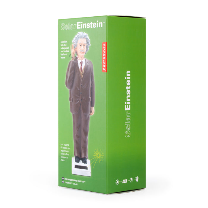 Solar Einstein - Powered by the Sun's Rays - Perfect for Bookshelf / Windowsill / Dashboard