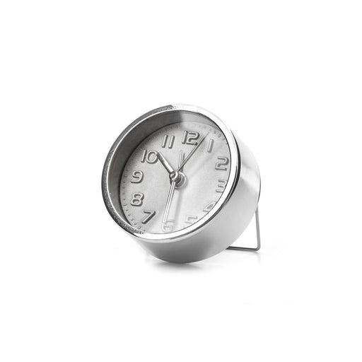Silver Alarm Clock - For travel or bedside