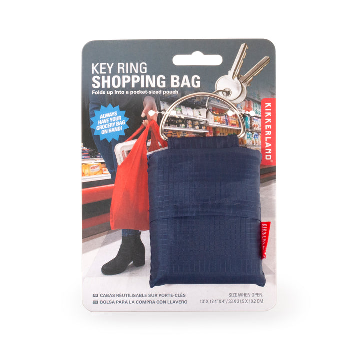 Key Ring Shopping Bag Blue