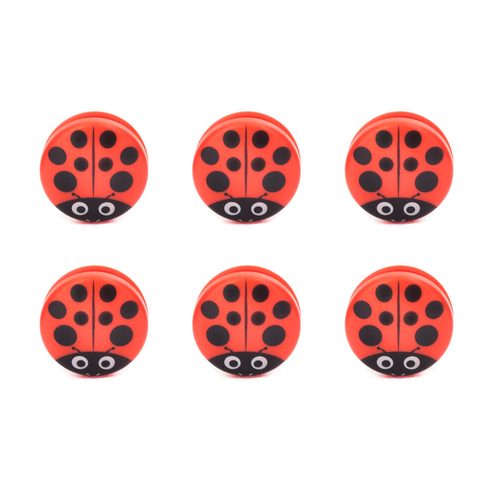 Ladybug Bag Clips Set Of 6