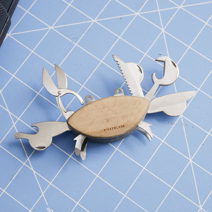 Multi Tool in a Crab design -  Mini scissor - Bottle opener - Rope