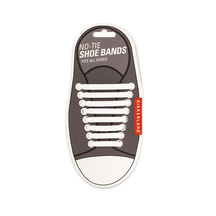 White No-Tie Shoe Bands
