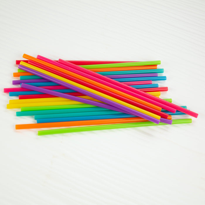 8 Inch Bright Color Reusable Straw