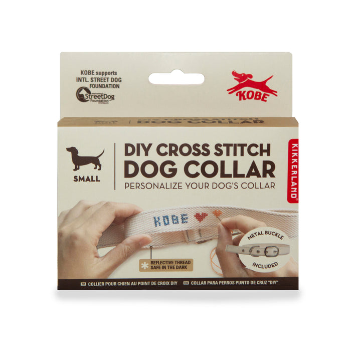 DIY Cross Stitch Dog Collar - L