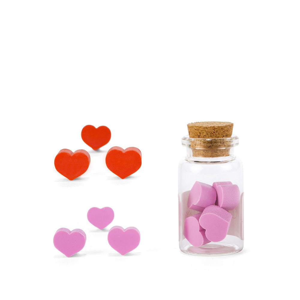 Rose Scented Heart Erasers