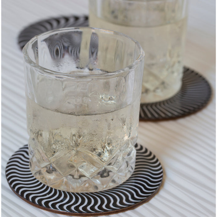 Black and White Moire Coasters