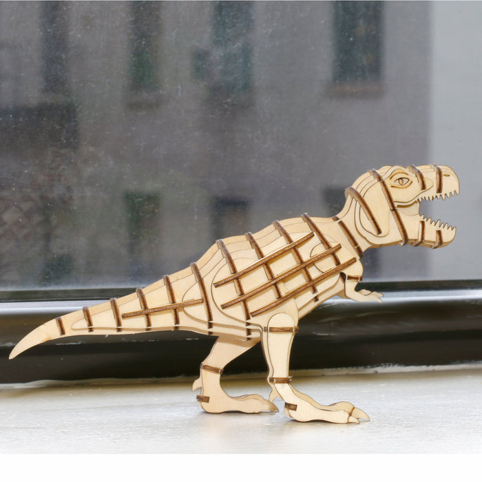T-Rex 3D Wooden Puzzle - 51 Pieces