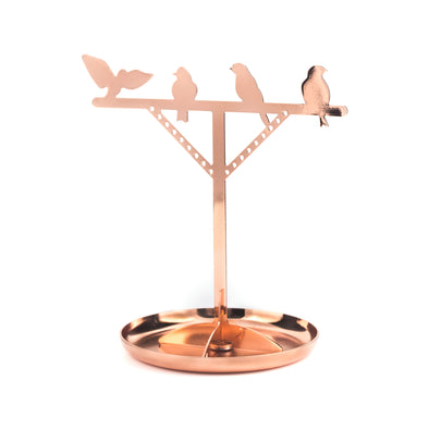Bird Jewelry Stand Copper