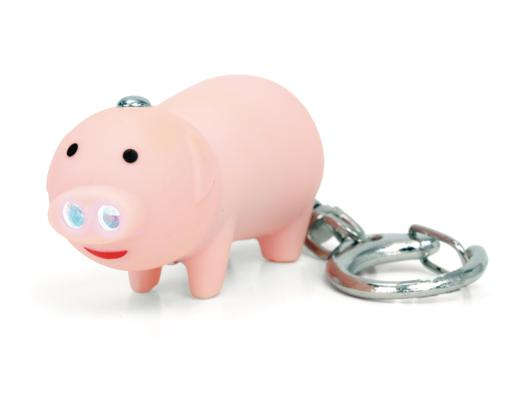 Pig Led Keychain