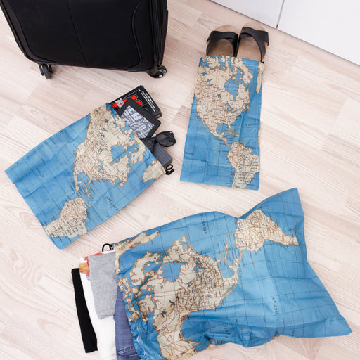 Travel Map Laundry Bags