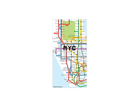 New York Map Magnets