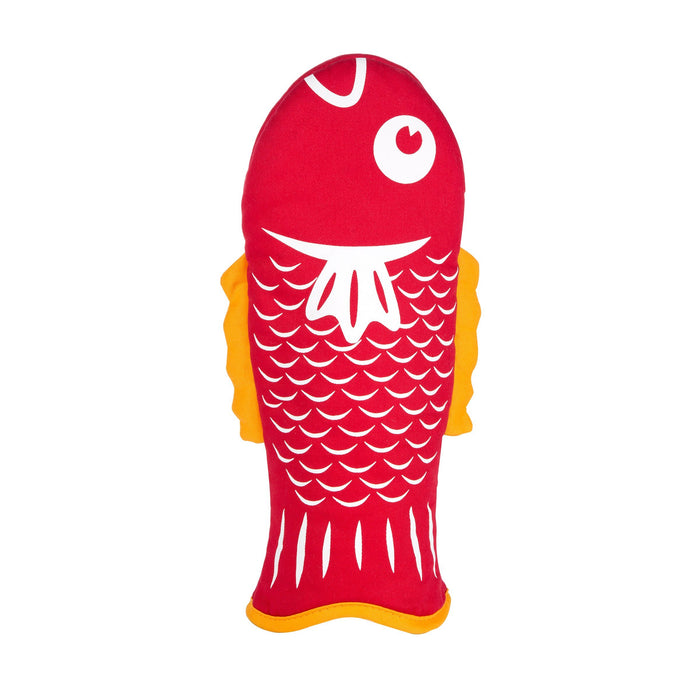 Red Fish Oven Mitt