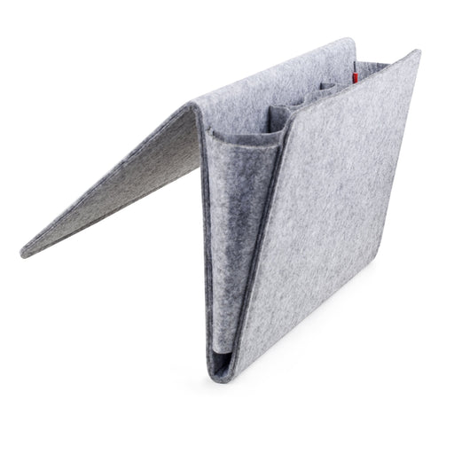 Felt Bedside Caddy - Large - Grey - For storing books / glasses / papers