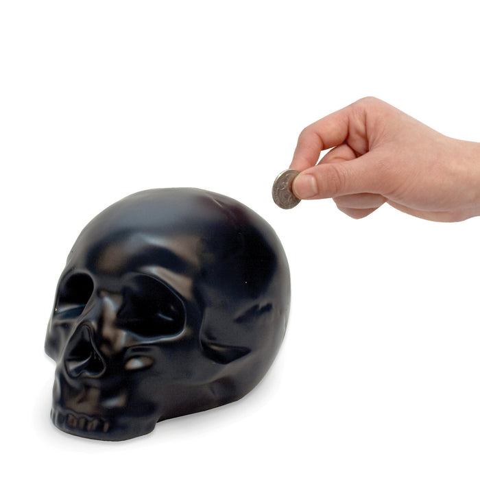 Ceramic Skull Coin Bank