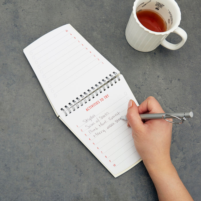 BUCKET LIST NOTEPAD