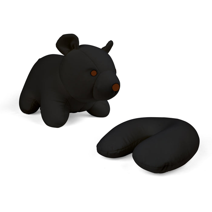 Zip And Flip Bear Head Rest Black