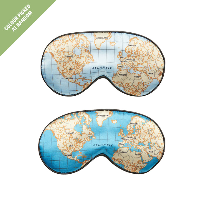 Kikkerland Ultra Soft Sleep Mask Maps