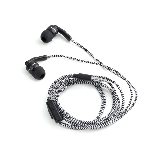 Black Braided Earbuds