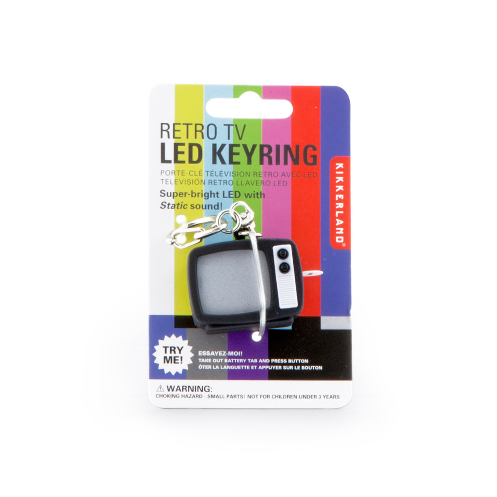 Tv Static Led Keychain Carded/Cdu