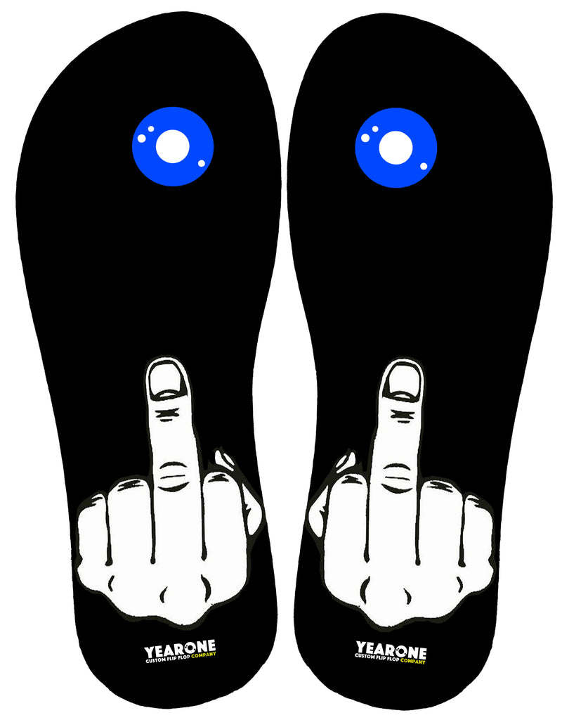Middle Finger Flip-Flop