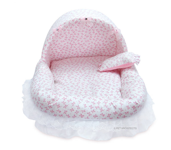 Baileys Pink Ribbon Cotton Bed