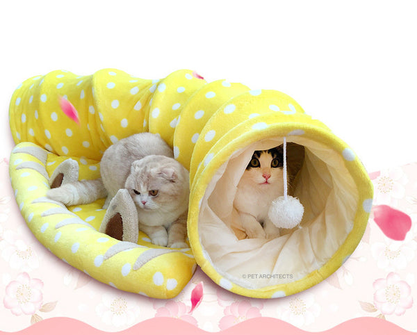 Peekaboo Neko Tunnel Bed