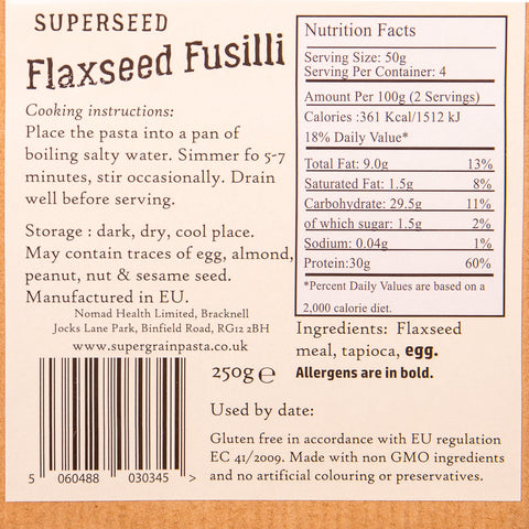 SuperSeed Flaxseed Fusilli