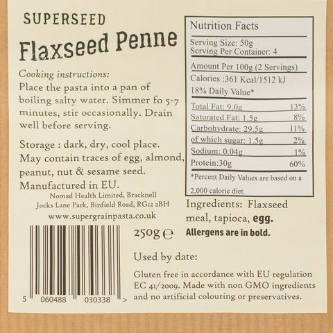 SuperSeed Flaxseed Penne