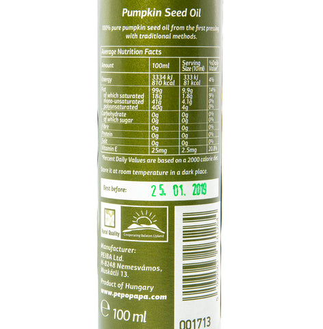 Pepo Pappa Pumpkin Seed Oil - 100ml