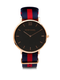 Black and Navy/Red Nato - PeterDaniel