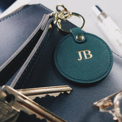 Forest Green Monogram Keyring