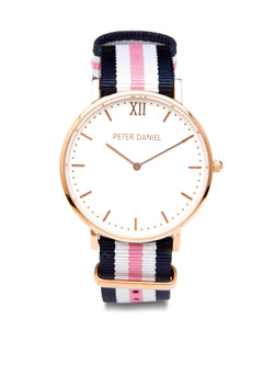 White and Pink/White/Navy Nato - PeterDaniel