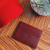 Brick Red Leather Cardholder