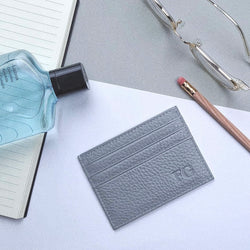 Slate Grey Leather Cardholder