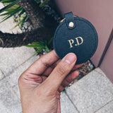Black Monogram Keyring