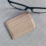 Cream Leather Cardholder