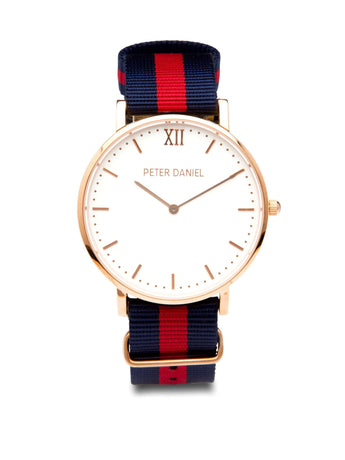 White and Navy/Red Nato - PeterDaniel
