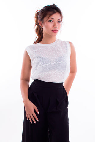 Ising Sheer Lace Top