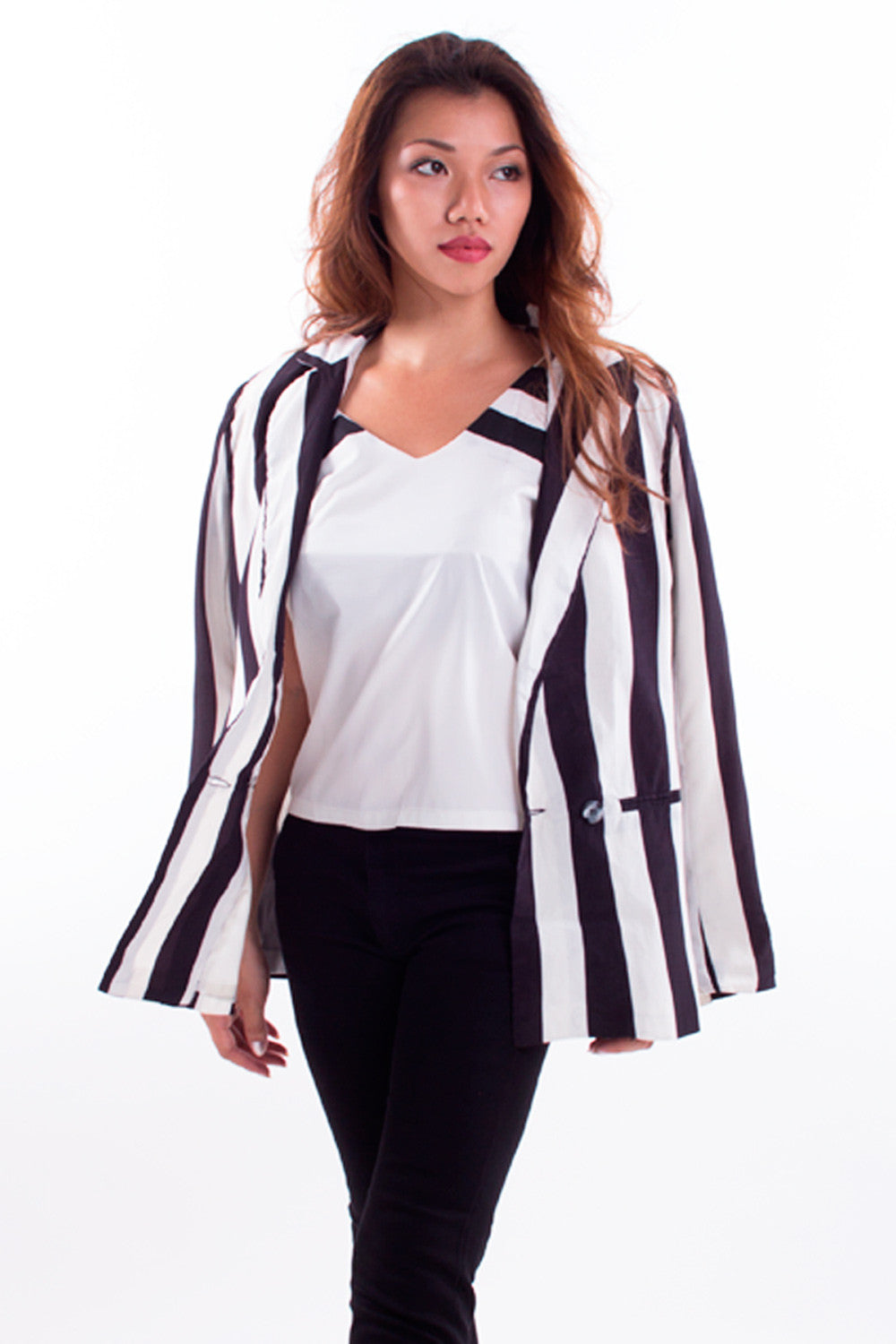 Rosen Striped Blazer
