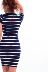 Curie Striped Bodycon Dress