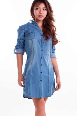 Fresnel Denim Dress