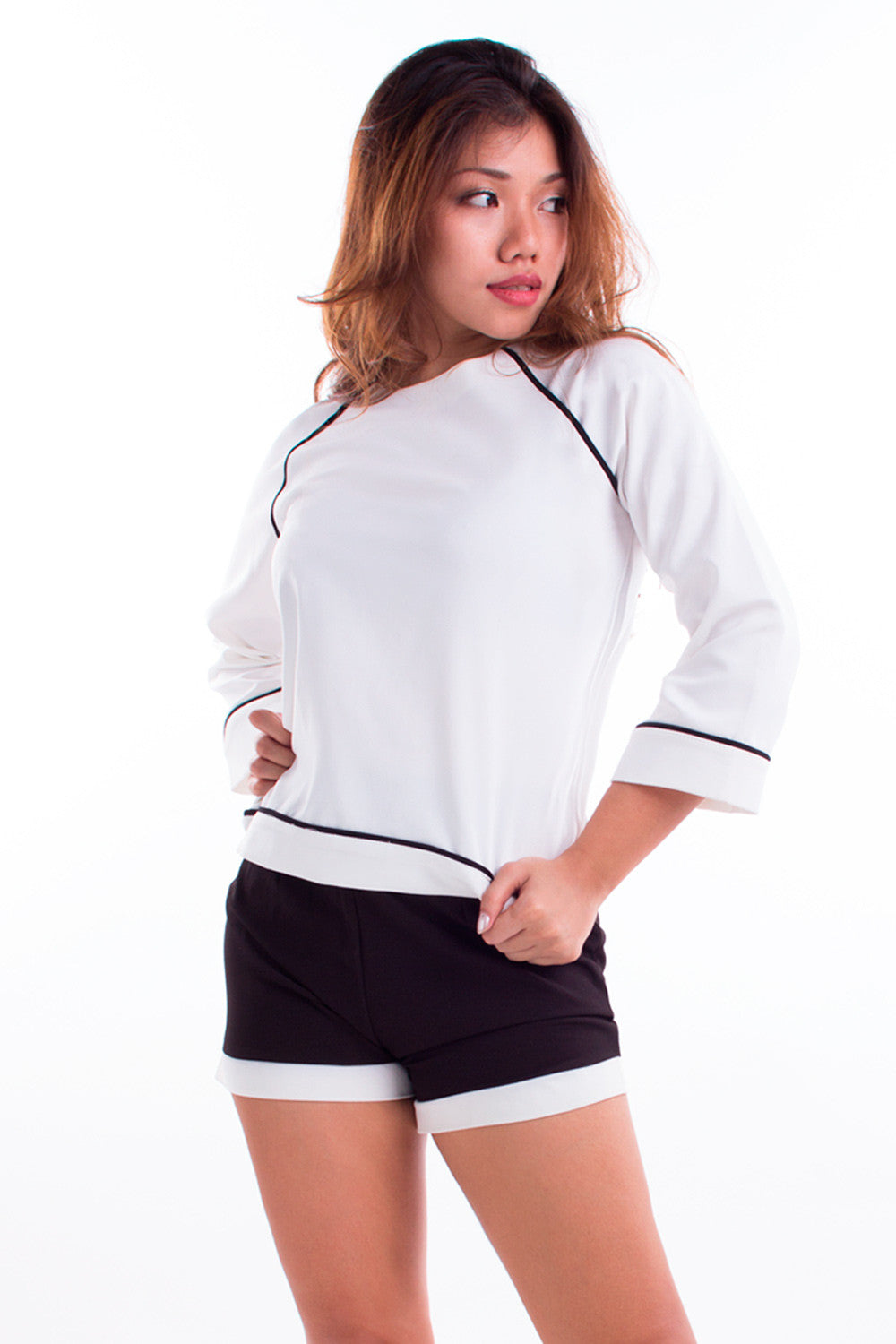 Boxy White Top