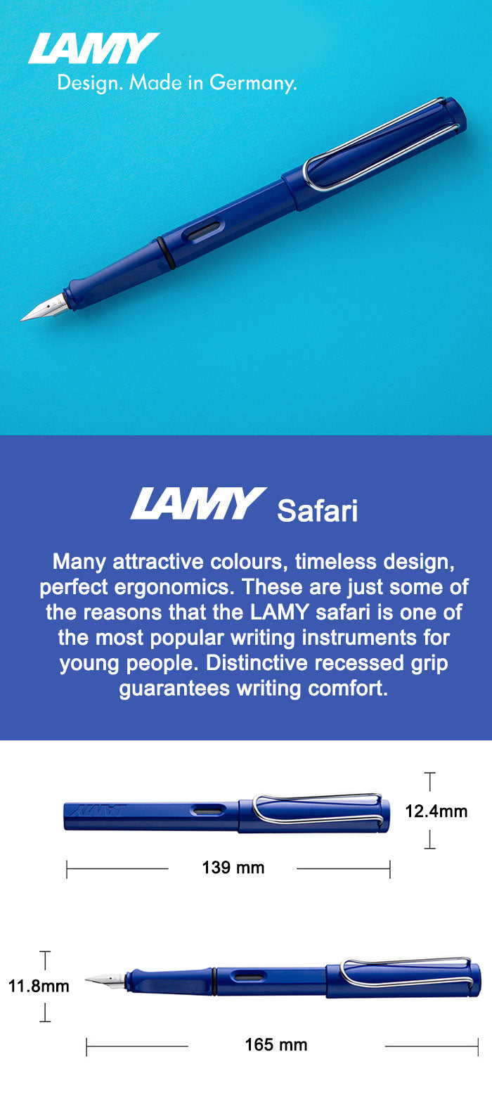 Lamy Safari Blue Fountain Pen