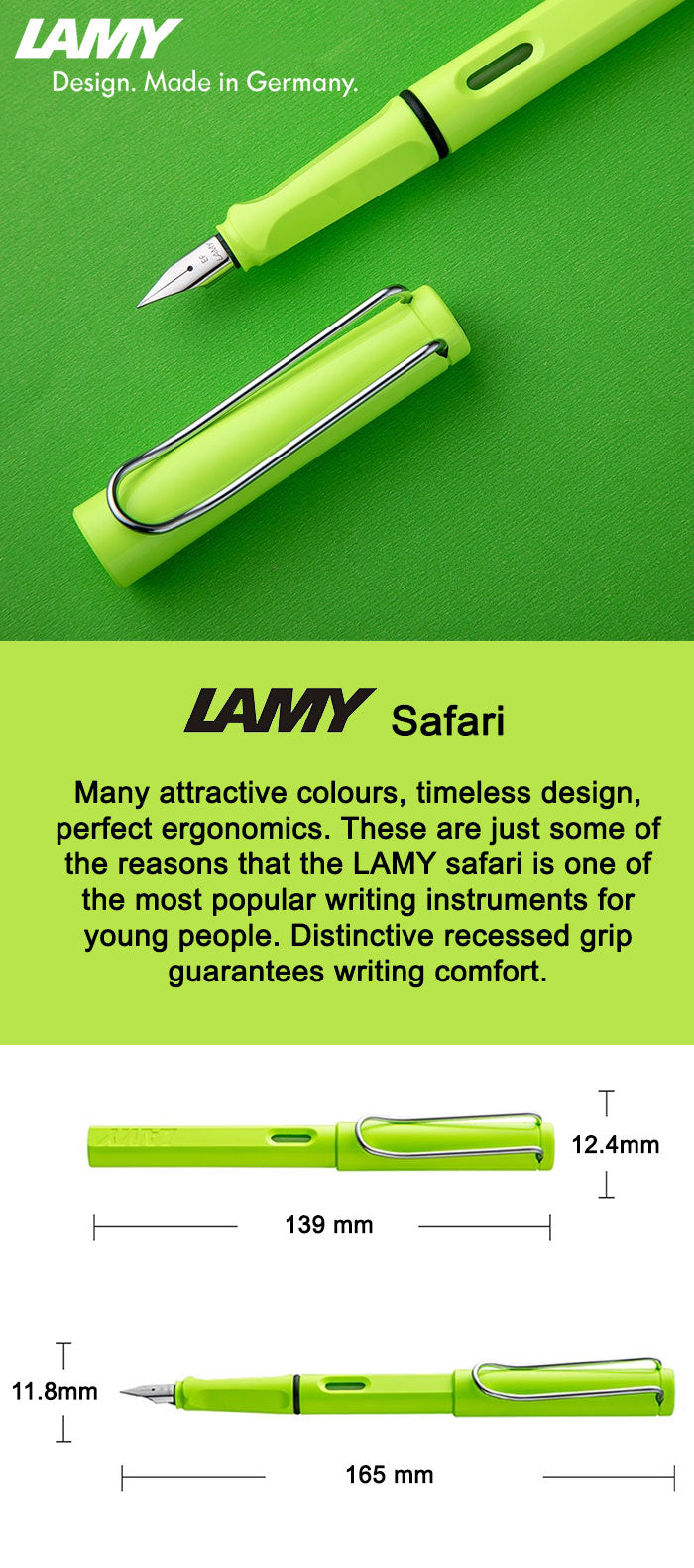 Lamy Safari Neon Lime 2015 Special Edition Fountain Pen