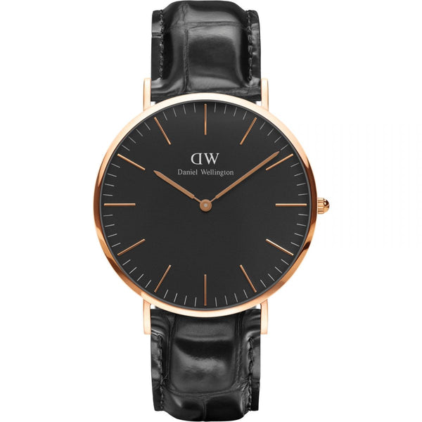 Daniel Wellington Classic Black Reading Rose Gold 40mm Watch